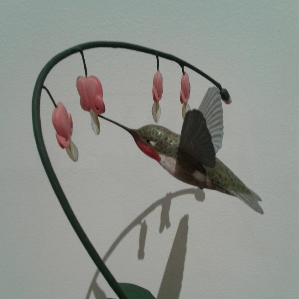 2nd Place: Hummingbird on Bleeding Hearts by George McNaught