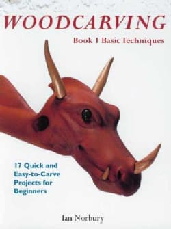 Woodcarving: Book 1: Basic Techniques  by Ian Norbury  Using projects to demonstrate the various aspects and different styles of carving to the newcomer, this step-by-step guide shows how to approach the craft without the assistance of large machinery.