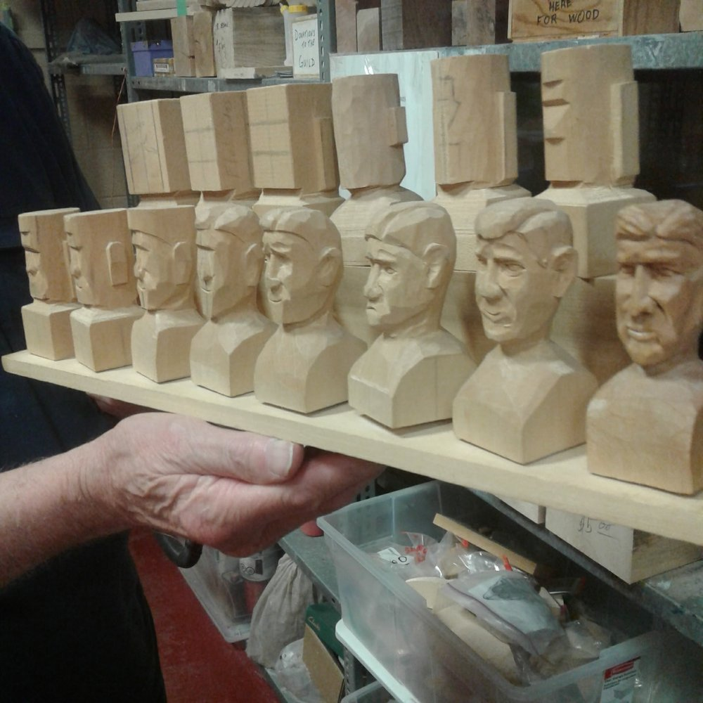 Caricature Carvers Workshop - This workshop is offered by the Ontario Wood Carvers Association and features one of our members, John Poole, as an instructor. The Ontario Wood Carvers Association is sponsoring in part a Caricature Carvers Workshop led by Mike Sullivan and John Poole to be held on October 1st, 2017 from 9 am to 4 pm at the Copetown Community Centre.Cost for either session is $50 by pre-registration and you can contact John Poole at ppoole8@gmail.com Visit the OWCA site for more information about this workshop.