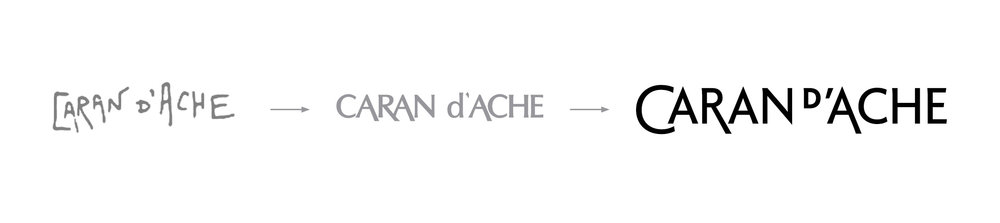 The logotype of Caran d'Ache has been redesigned as well, bringing the essence of its predecessor into a contemporary feeling.