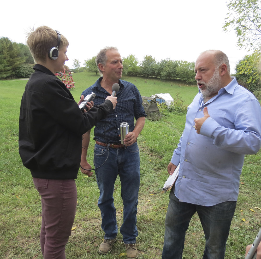 Jimmy Carbone interviewing Thor on the farm for Beer Sessions Radio.