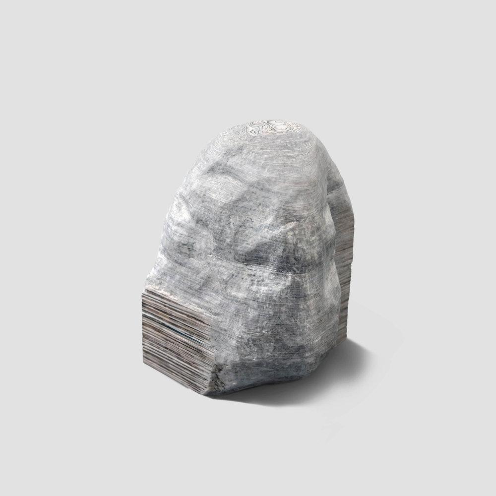 sorrisos em caixa (yeda, franklin e seus amigos),  2017  fotografias esculpidas  25 x 30 x 25 cm
