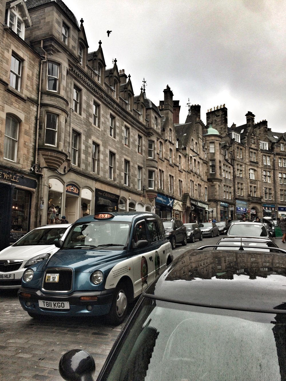 The delightful shops and cobblestones of Cockburn St