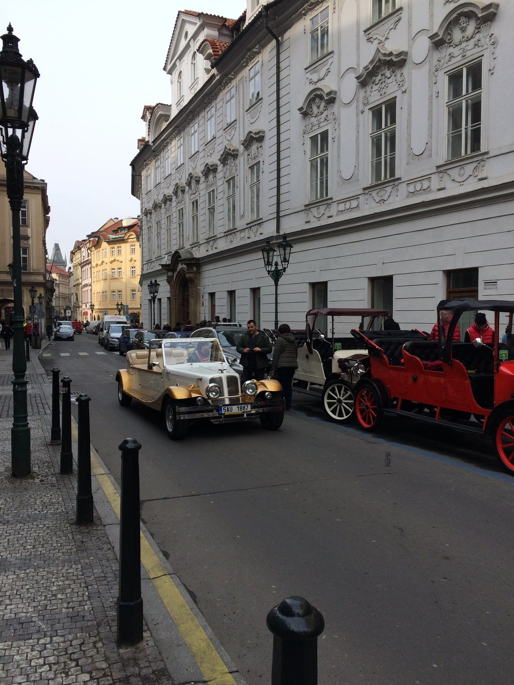 One of the old Prague cars that rumble through the city