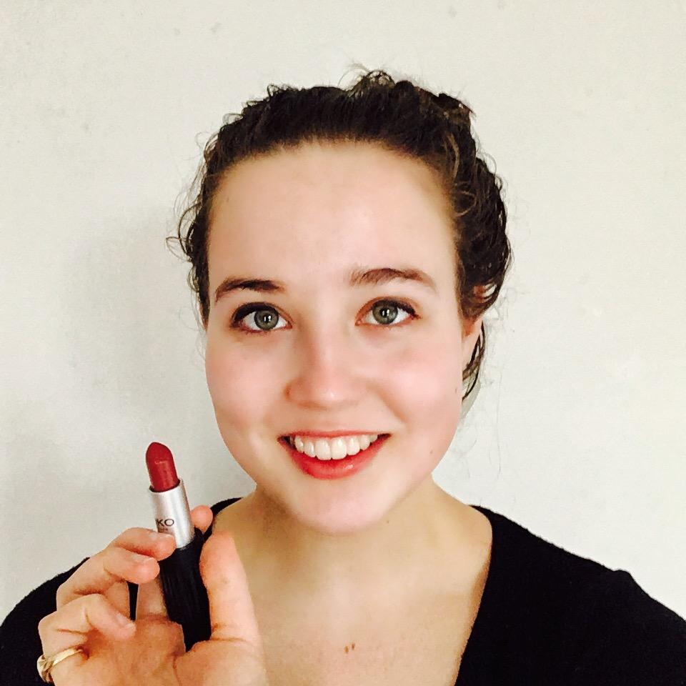 Posing with my Kiko lipstick  (similar)