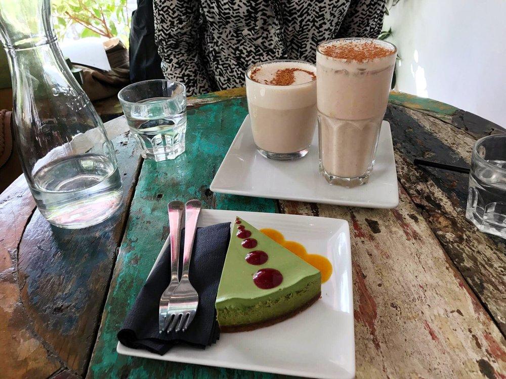 Brunch Babes Matcha Cheesecake and Chai Lattes.jpg