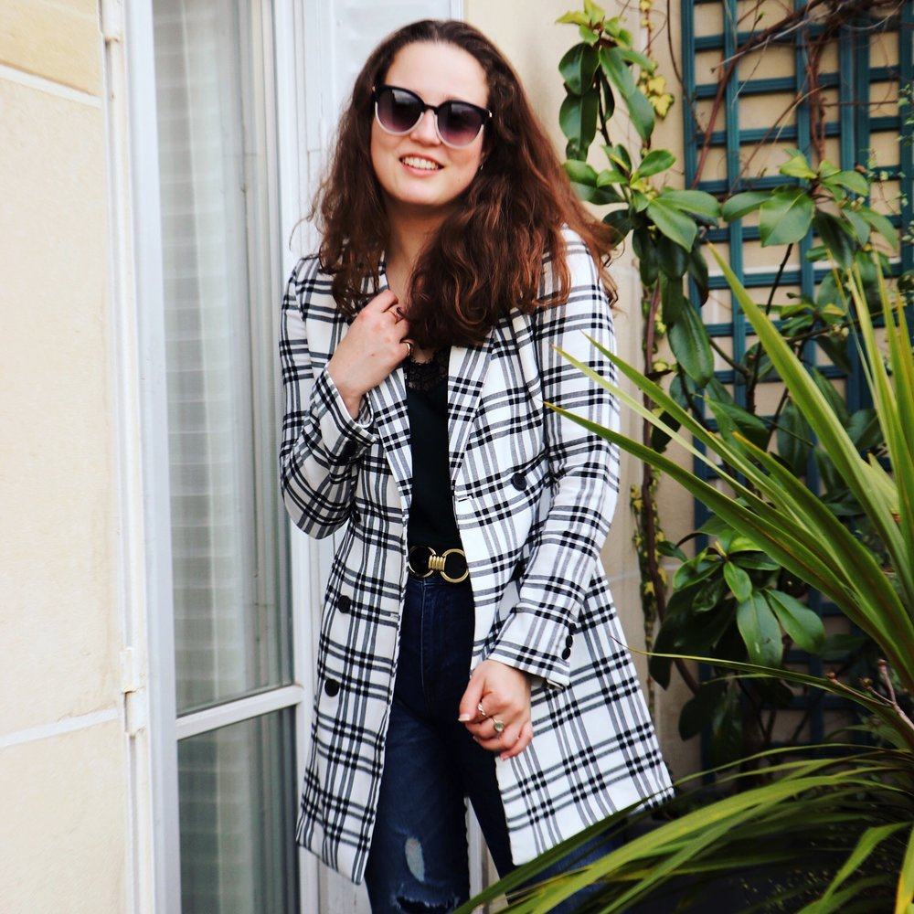 Black & White Check Blazer | My Love Hate Relationship With Girl Boss Cady Quotidienne.JPG