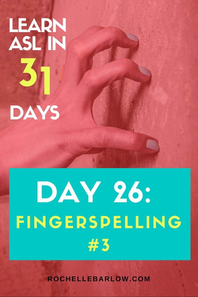 You've been dying to learn ASL forever! Now you can! You'll learn not only vocabulary, but also grammar and all the skills the go along with ASL. For FREE! Pin so you can have easy access to all 31 lessons | Fingerspelling part 3