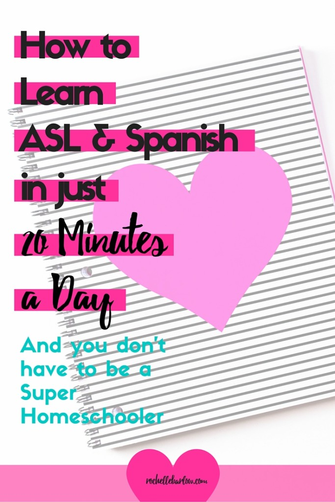 Learn ASL and Spanish in just 20 minutes a day? How can that be possible, with elementary aged kids? It is when you use this curricula. Check it out!