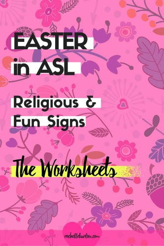 Let's make your Easter awesome and learn some Easter signs! There's two videos for you: religious and fun easter signs, along with FREE worksheets! Click on over to grab the worksheets.