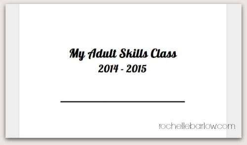 Adult Skills Class printables