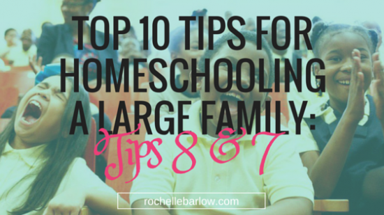 tips for homeschool large family 2