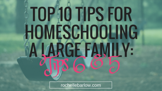 tips for homeschool large family 3