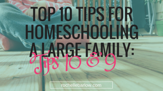 tips for homeschool large family