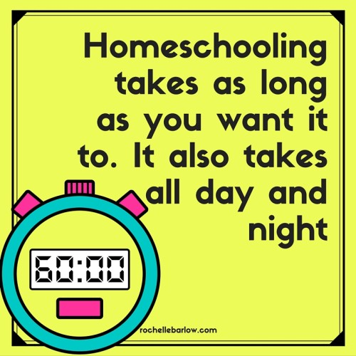 How much time does homeschool really need to take? How much time do you spend worrying that you're not doing enough or you're doing too much? Let's get down to the real truth so you can get some peace. Pin this to help others in your same boat.