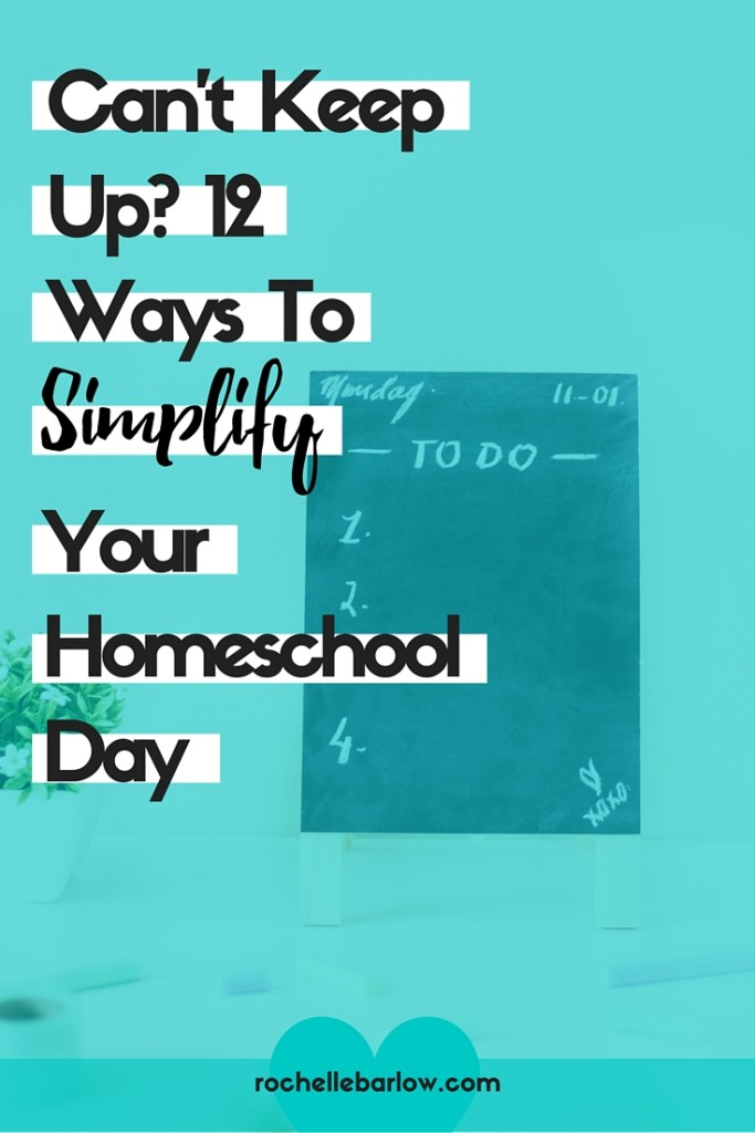 When we find ourselves worn out, exhausted, and tapped out when it comes to homeschool, something has to change. Here's 12 ways to simplify so you can breathe and enjoy homeschooling once again. Click through to find easy actionable steps for you to take