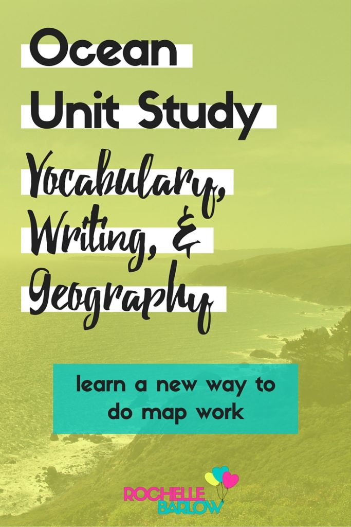 Here are the vocabulary, writing, and geography portions of the ocean unit study. Learn an easy and fun way to do map work and vocabulary. Plus, writing prompts!