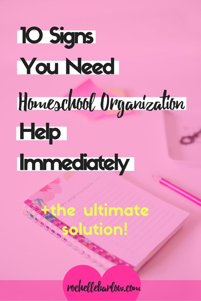 When do you know it's time to up your homeschool organization game? Here's 10 clear signs that will leave you with little doubt + an easy solution.