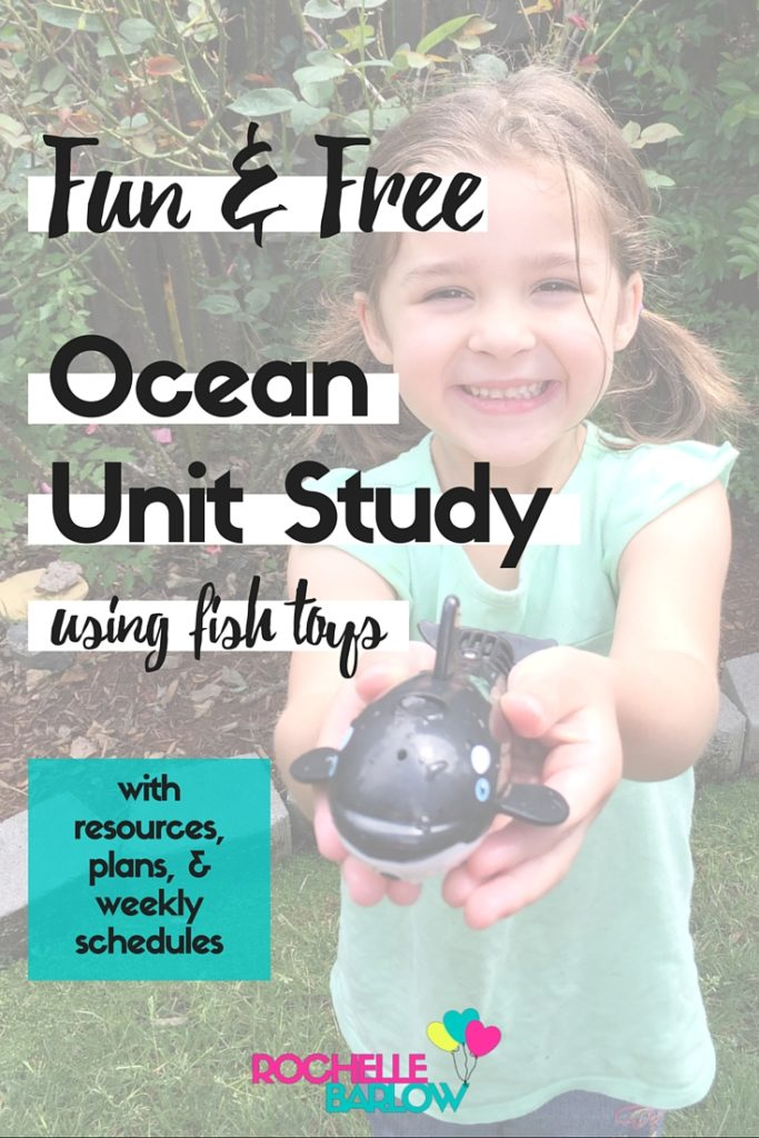 Join us in our much-anticipated Ocean Unit Study adventure. We're using some sweet fish toys to make our studies especially great! Plans & schedule included!