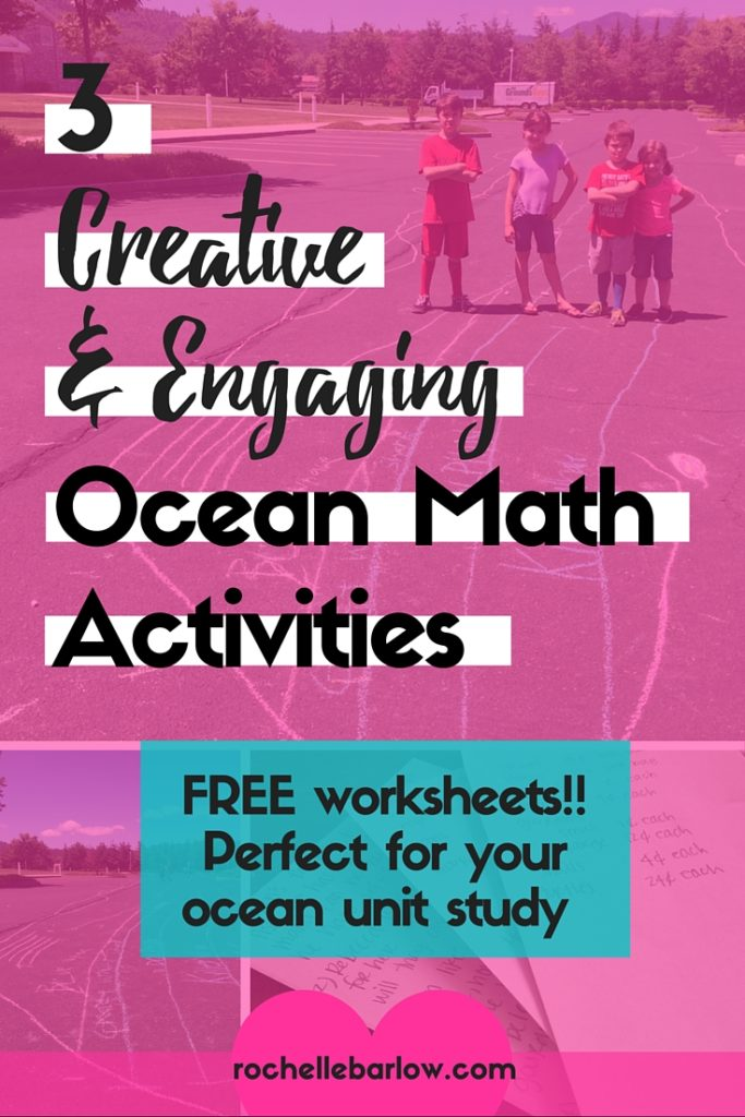 What's an ocean unit study without some great ocean math activities to go with it? Here's 3 creative math activities that appeal to everyone. Click to grab the free worksheets to make it even easier!