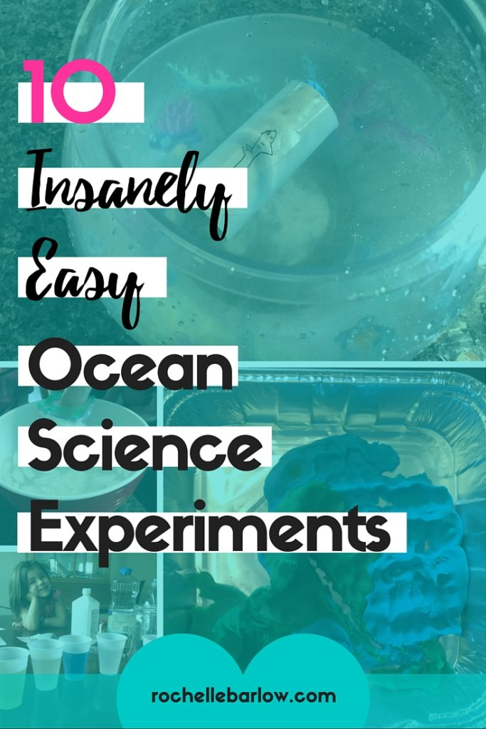Are you looking for some easy ocean science experiments? Don't want a ton of materials, money, and time gathering supplies for each experiment? Done and done.