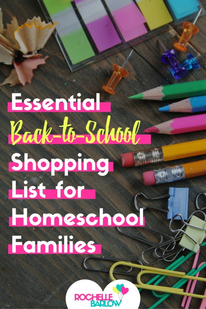 It's time for back to homeschool shopping! Here's a list of the essential school supplies you need in levels of most important to that'd-be-nice-to-have. Super helpful and great resource-- totally check it out!