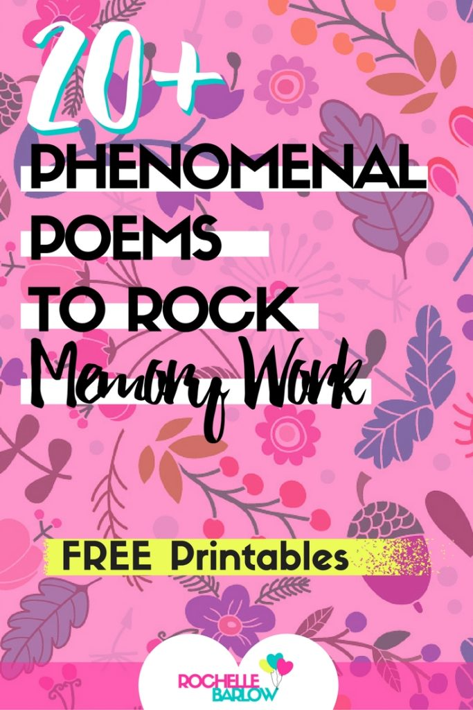 Poems truly enrich and nourish your homeschool experience. Add in engaging, fun, moving, and delightful poems into your memory work. My kids really enjoyed these poems and keep asking for more!