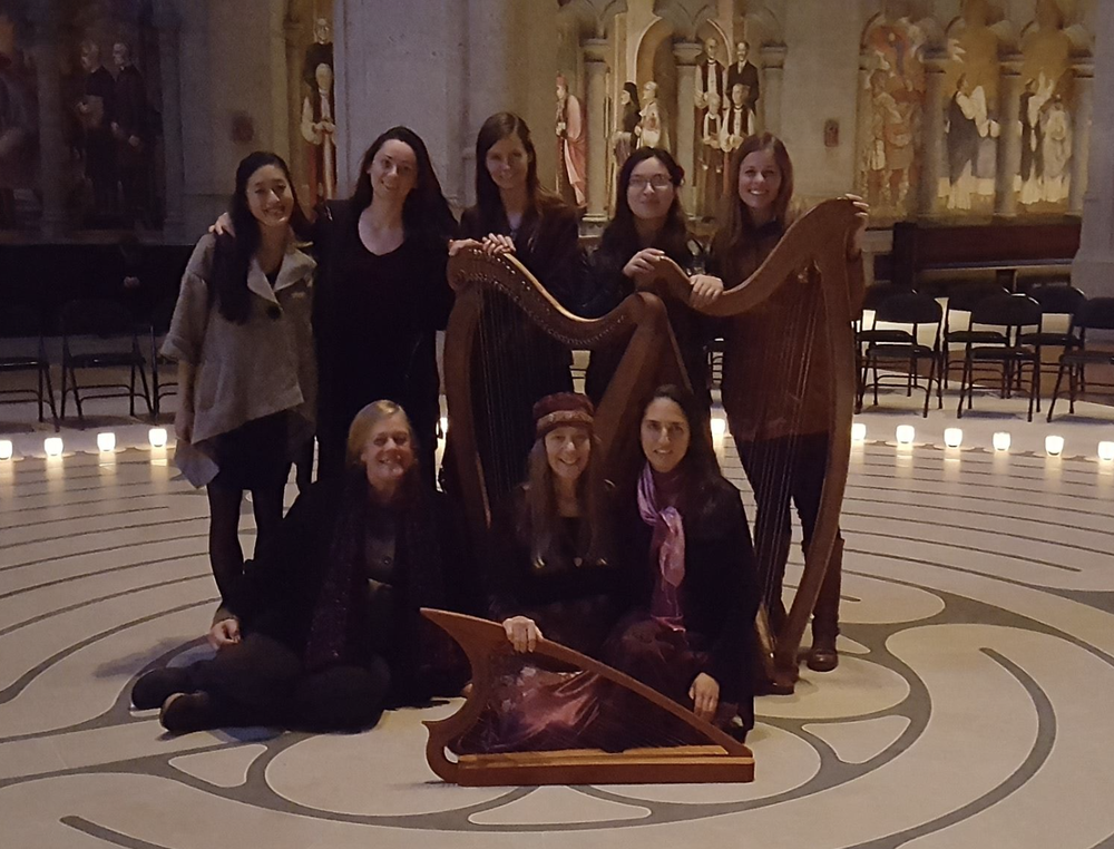 Labyrinth healing concert at Grace Cathedral // San Francisco