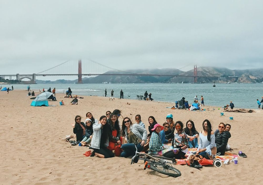 summer picnic at east beach, crissy field