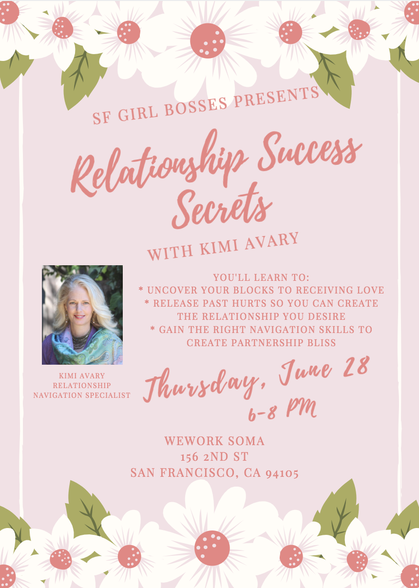 Relationship Success Secrets @ WeWork Soma