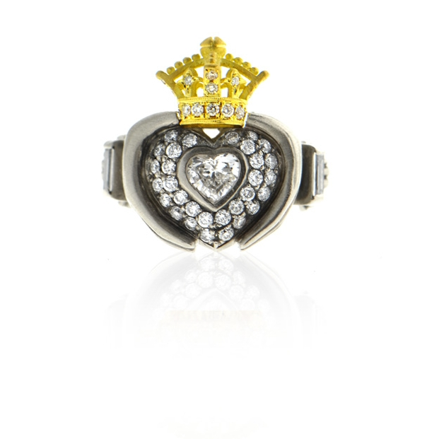14k white gold and 18k yellow gold 'clara' heart ring with diamonds.jpg