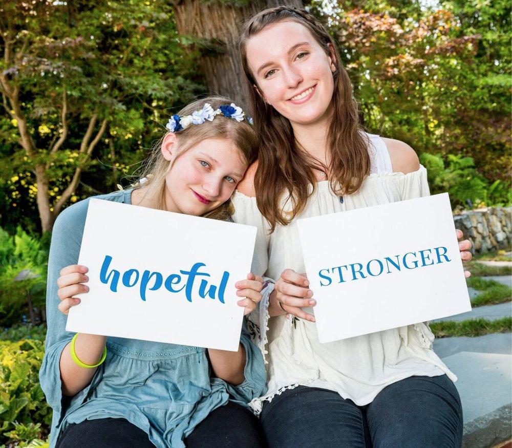 Hopeful, Stronger.