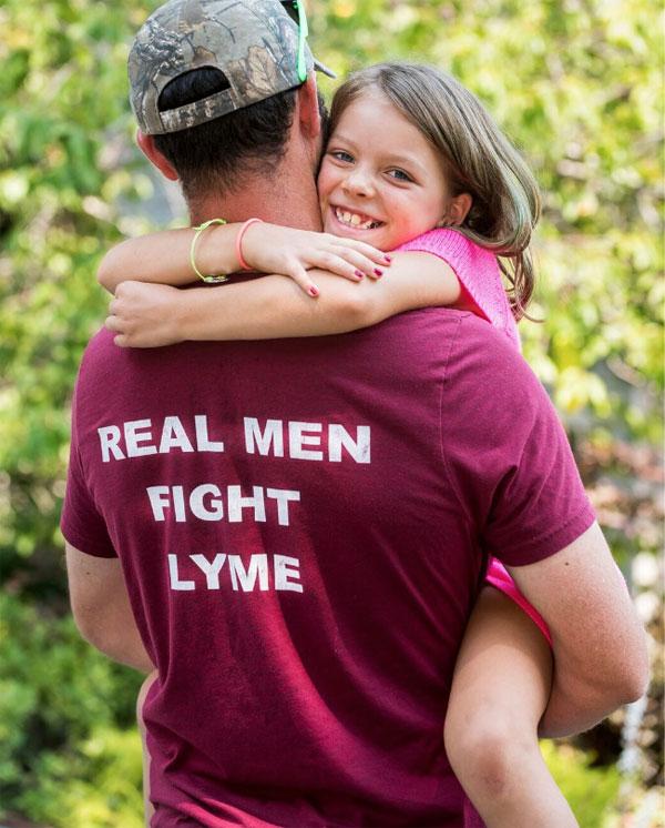 Real men fight lyme.
