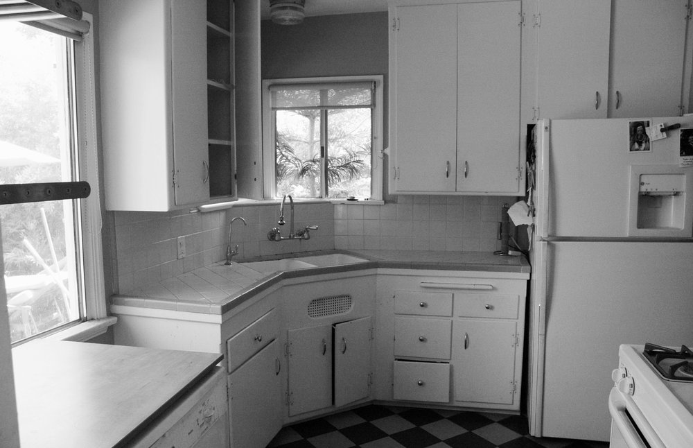 View of the kitchen prior to the renovation.