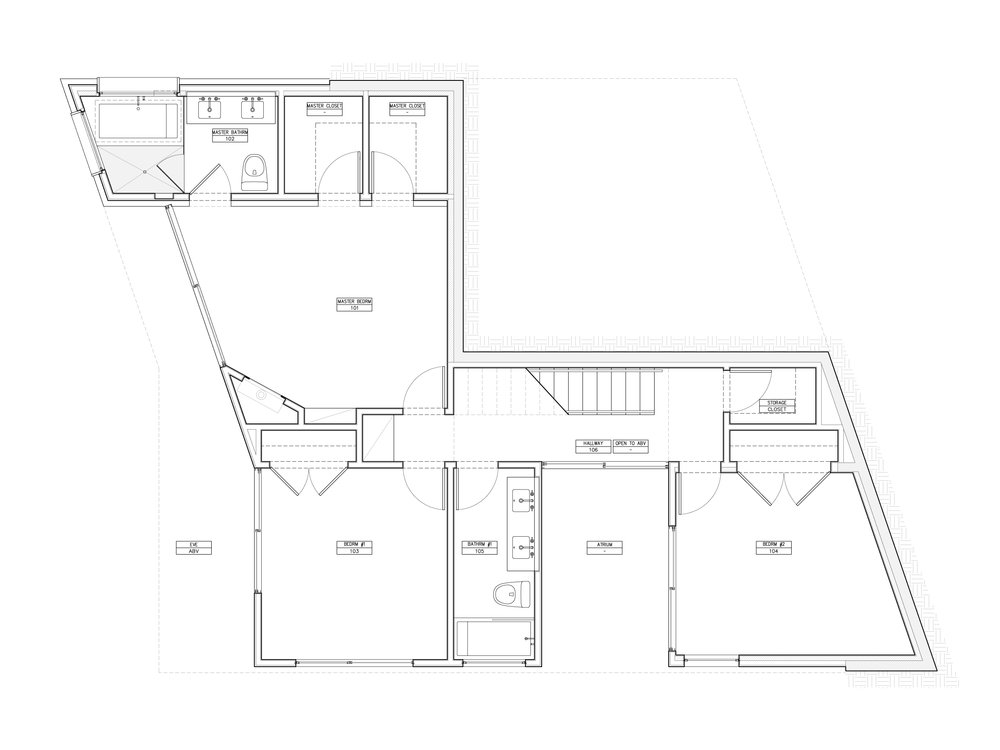 The ground-floor plan of the proposed scheme.