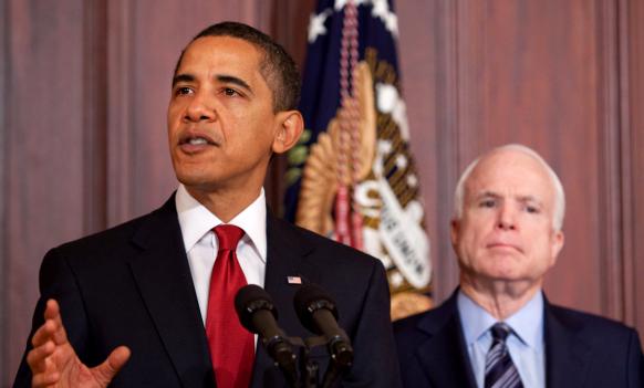 President Obama and Senator McCain