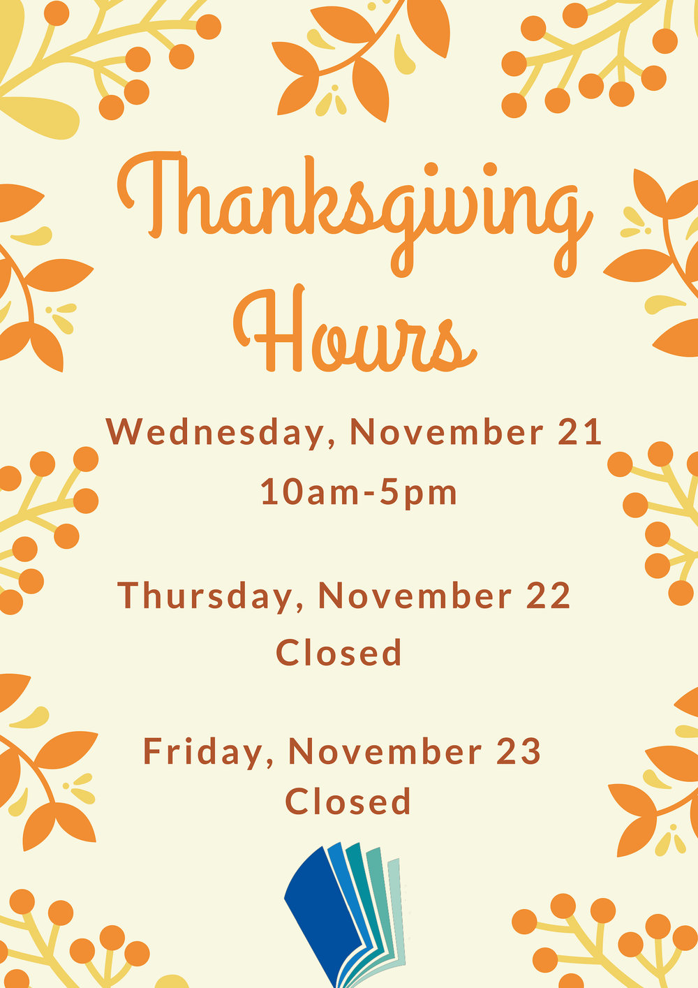 Thanksgiving Hours, Centre Hall.jpg