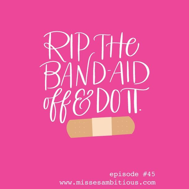 I've ripped the band-aid off about 10 times this week. #sendhelp *Our first of 2 May extra episodes is up on Patreon, and it's all about how to deal with a difficult client, customer, or even worse...an internet troll. To access this episode, click the link in our bio!* . . . #missesambitious #ambitiousadventures #podcast #creativepodcast #smallbusinesspodcast #communityovercompetition #creativebiz #girlboss #magicalunicornladyboss #smallbutmighty #workfromwherever #businesschicks #lovelysquares #creativelifehappylife #growingagirlboss #kileyinkentucky #msfitfood
