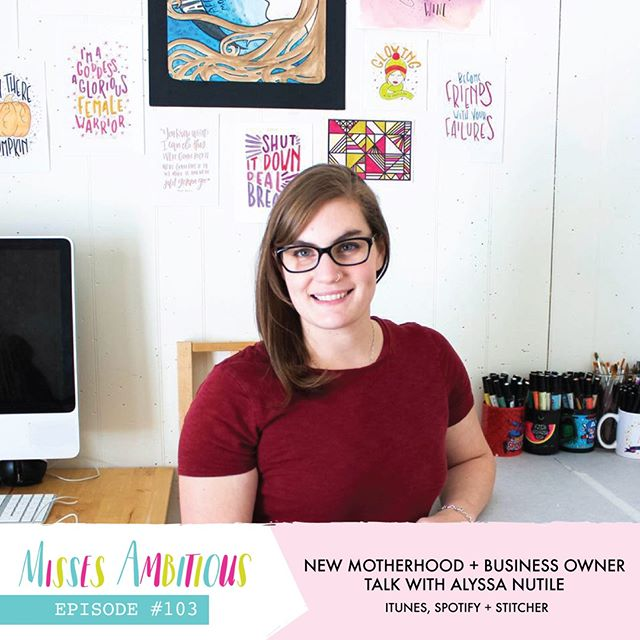 New episode alert! This one is for all the mamas (and all the people that work with mamas). Alyssa of @pandabearsbyalyssa came on the show to chat about all the wonderful and hard and beautiful things about being a work-from-home mom. Alyssa and Blaine had so many wonderful things to share and I (Kiley) jump in wherever I can to provide some perspective on communicating with a new mom biz owner and thinking ahead for the future. Blaine and Alyssa will give you all the mama feels in this one! We can't wait for you to hear it! . . . #missesambitious #ambitiousadventures #podcast #creativepodcast #smallbusinesspodcast #communityovercompetition #creativebiz #girlboss #magicalunicornladyboss #smallbutmighty #workfromwherever #businesschicks #lovelysquares #creativelifehappylife #growingagirlboss #kileyinkentucky #msfitfood