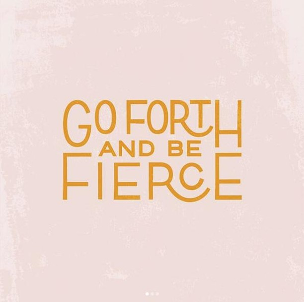 Happy Friday!! Go forth into the weekend and be your fiercest self.