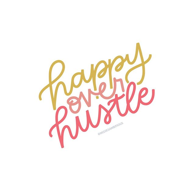 HAPPY over hustle....always and forever, amen. . . . Lettering by @kileyinkentucky #missesambitious #ambitiousadventures #podcast #creativepodcast #smallbusinesspodcast #communityovercompetition #creativebiz #girlboss #magicalunicornladyboss #smallbutmighty #workfromwherever #businesschicks #lovelysquares #creativelifehappylife #growingagirlboss #kileyinkentucky #msfitfood