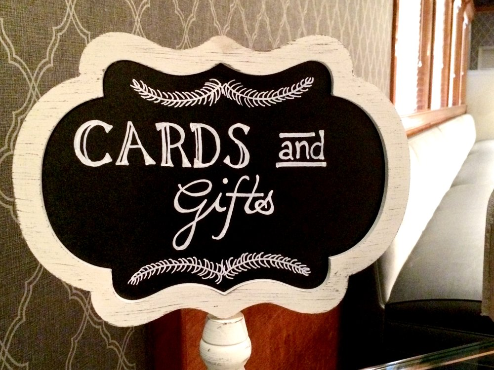 Lettering is Additional $20 for all Chalkboards