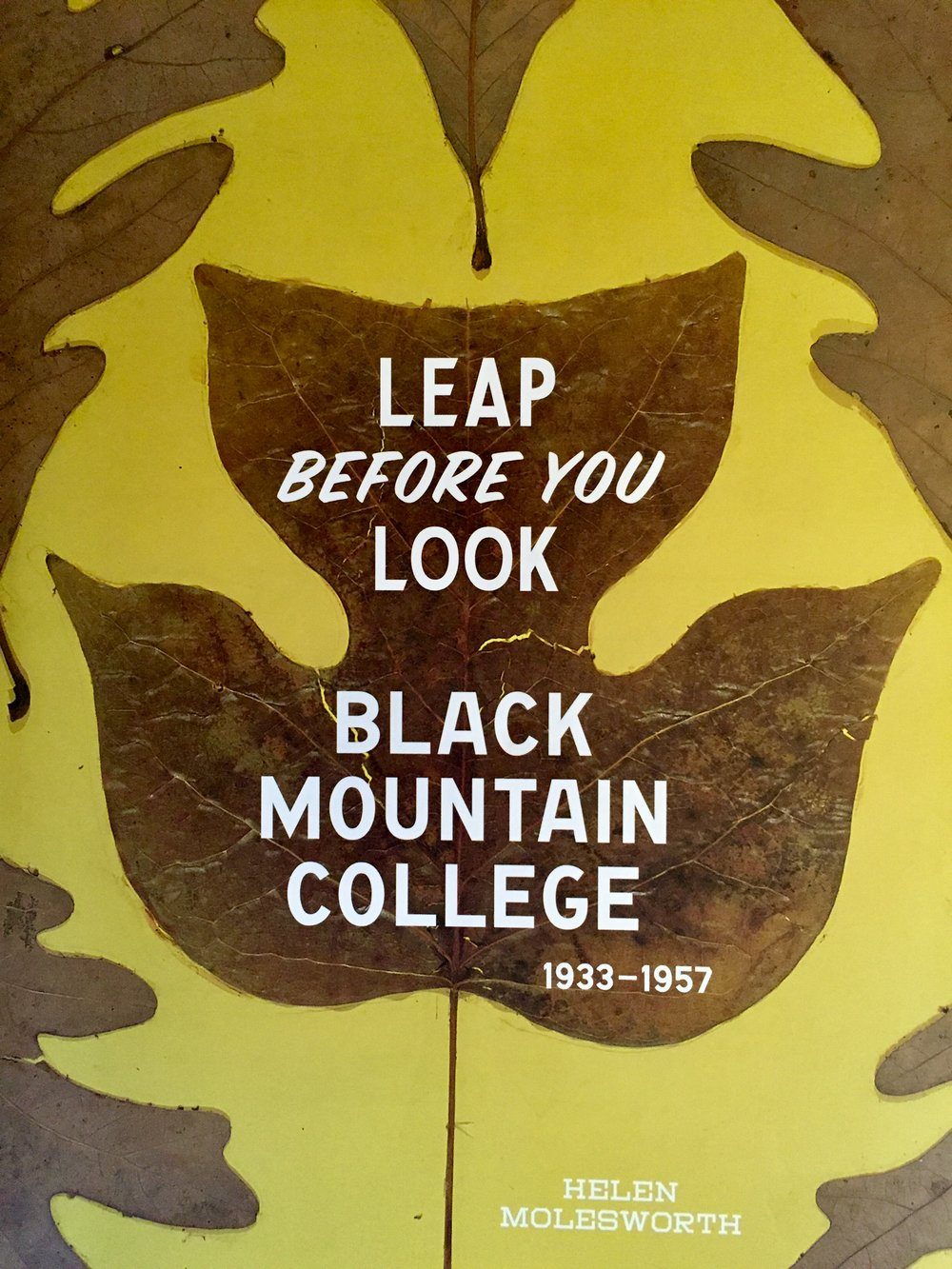 Leap Before You Look: Black Mountain College 1933-1957 by Helen Molesworth, Yale University Press 2015
