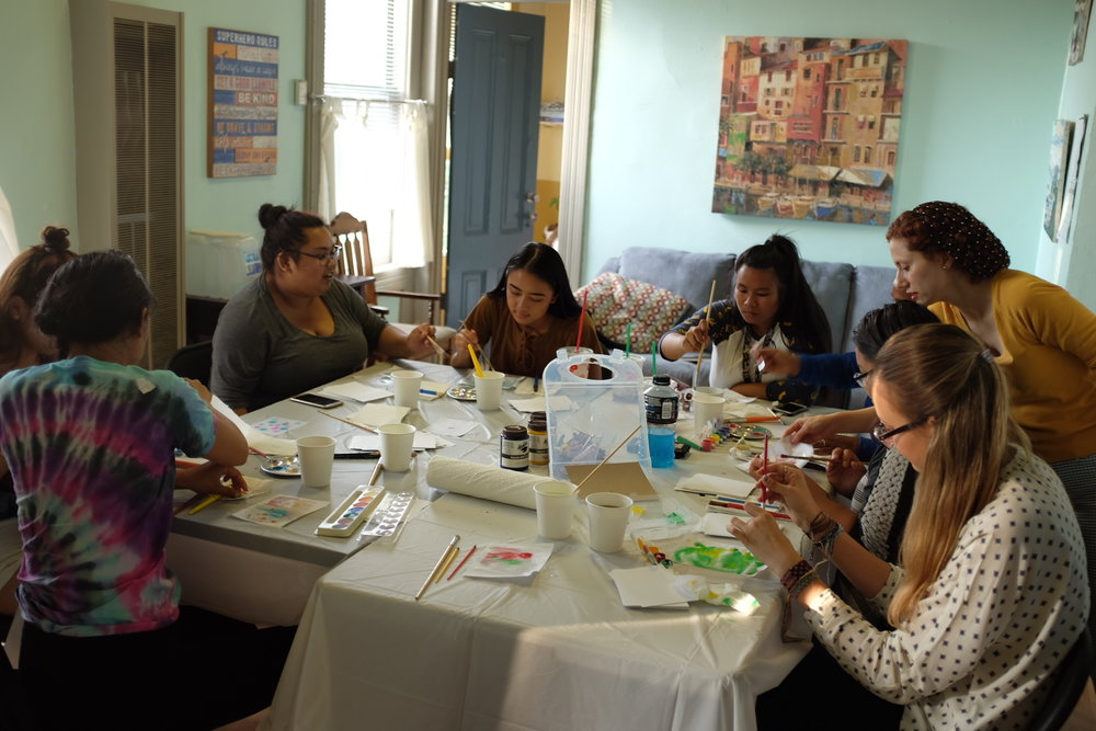Expressive Art: Watercolor  - Open windows let in the cool evening breeze as Somaieh Amini, a local Bay Area artist, set up watercolor paints, brushes, and blank pieces of paper in preparation for ARTogether's Girls Expressive Art Workshop last Thursday, August 3rd...Read More