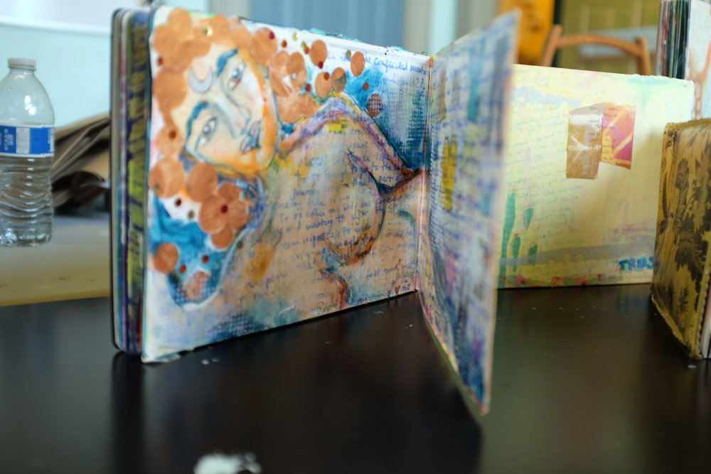 Expressive Art: Art Journals - By using both art and words in her journal, Alice said the journal helped her learn to express herself in new and creatives ways. The goal of the workshop -- she hoped -- was for the girls to be able to do the same...Read More