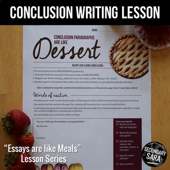 Click here  for Secondary Sara's free Conclusion Writing lesson.