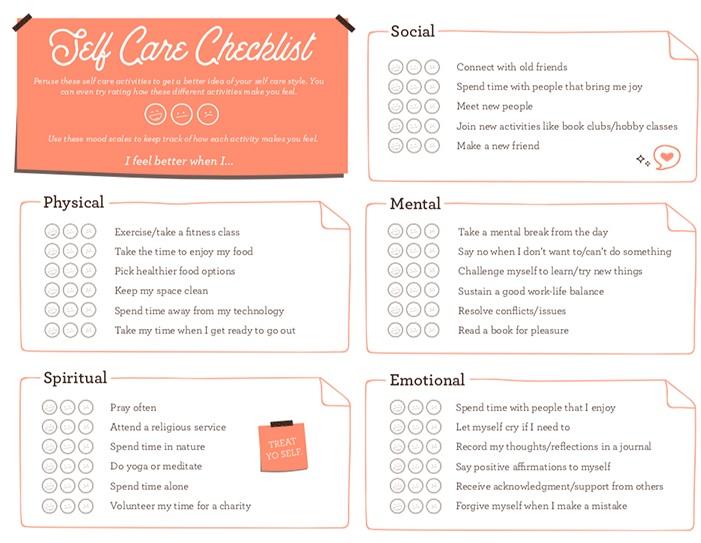 - Self-Care Checklist