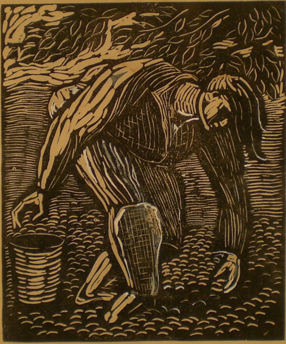 Prune Pickers, print, 14x16, signed Pathways Original Print Collection