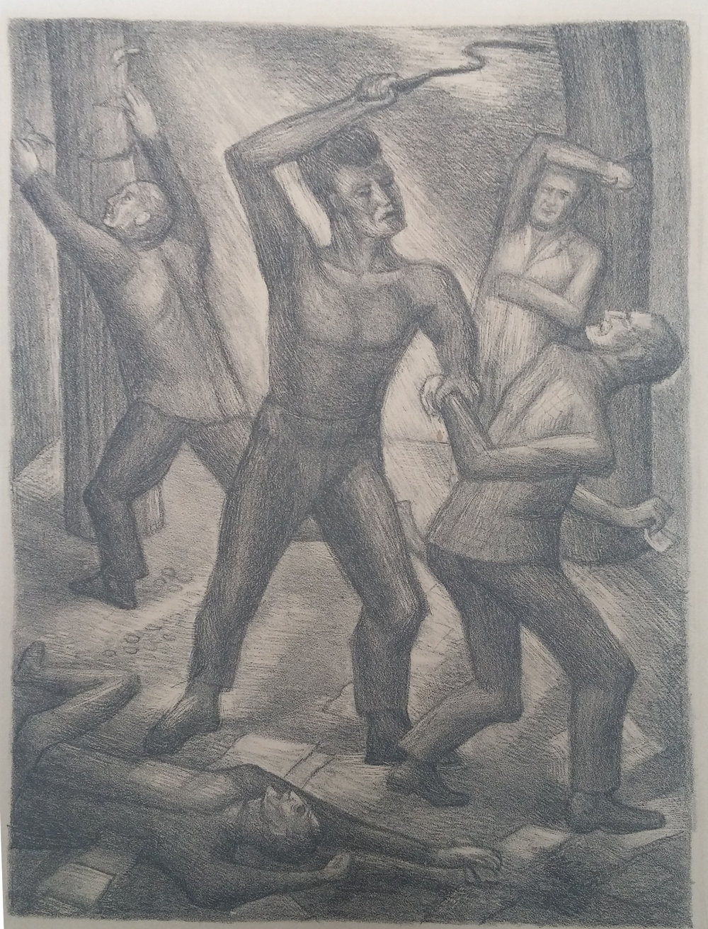 A Lashing of Workers , print, 16x8, signed, unframed  Pathways Private Collection