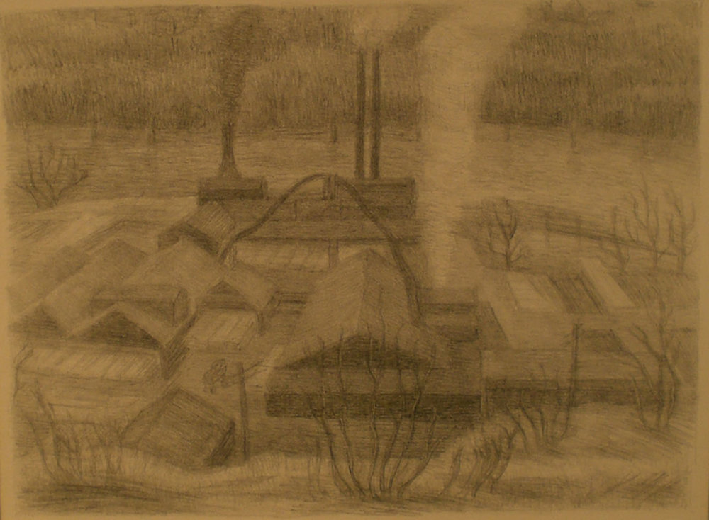 Saw Mill , 18 ¼ x 15 ¾  Charles Haney